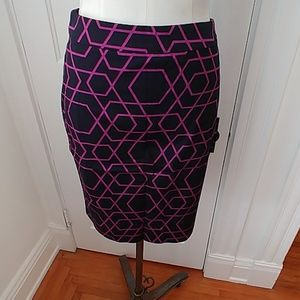 NEW J Crew cotton pencil skirt black pink
